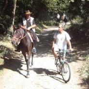 La courtoisie à cheval.